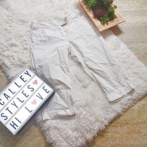 J Jill White Capri Pant Size 4P Petite C20